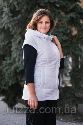 Женский жилет большого размера 56 - 66 р белый, фото 2