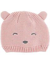 Детская вязаная шапочка для девочки 0-3, 3-9, 12-24 месяца
