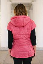 Женский жилет большого размера 56 - 66 р розовая, фото 2