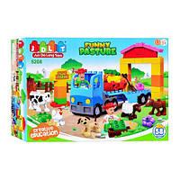 """Конструктор для самых маленьких с большими деталями JDLT (LEGO Duplo) """"Веселая ферма"""" 58 деталей, 5208"""