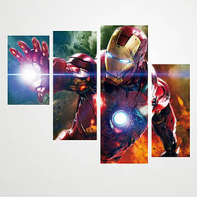 "Модульная картина ""Iron Man \ Железный человек"""