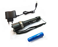 Тактический Фонарик POLICE 8626 mini 009C 18000W с линзой  мини фонарь аккум. зарядное