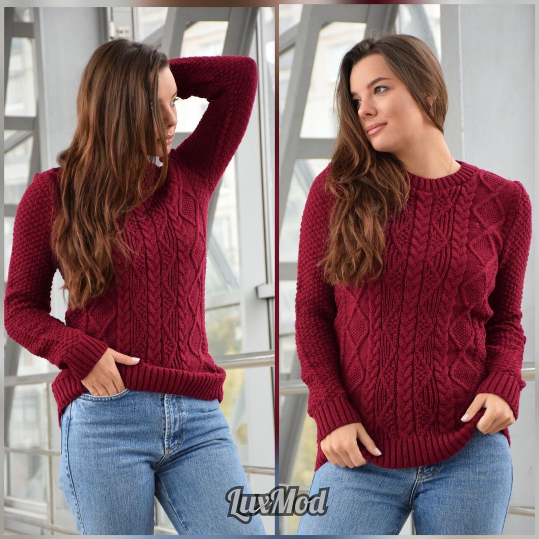 Жіночий светр Ожина, бордо
