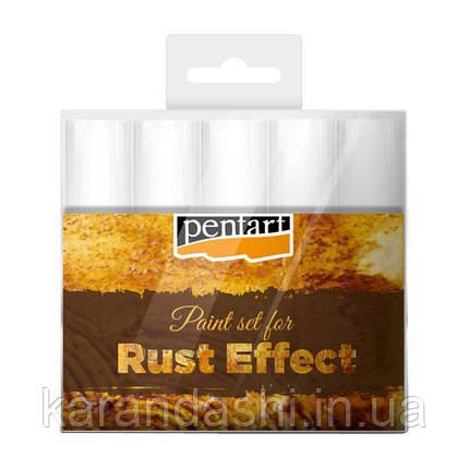 Набор материалов для создания эффекта ржавчины 5 * 20 мл, Pentart 29762, фото 2