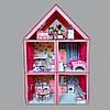 Домик «Большой Особняк Барби» 5 комнат/ 3 этажа + обои + шторки + мебель + текстиль