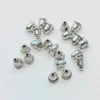 Заглушки для серег железные с силиконовой вставкой (цвет сталь) вес примерно 15 г