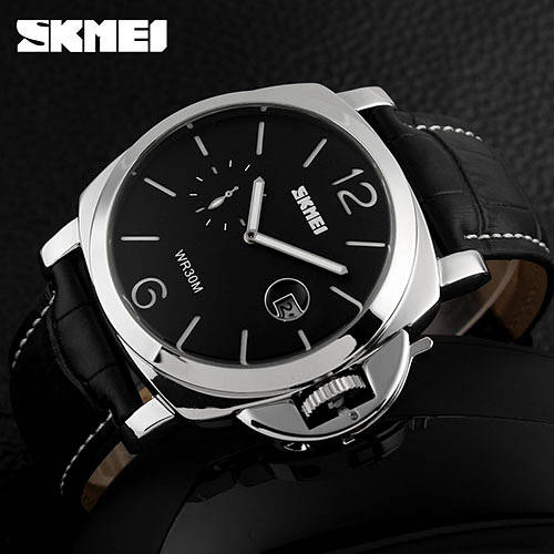 • Оригинал! Мужские часы Skmei 1124 Skmei PANERAI II  Классические Мужские часы