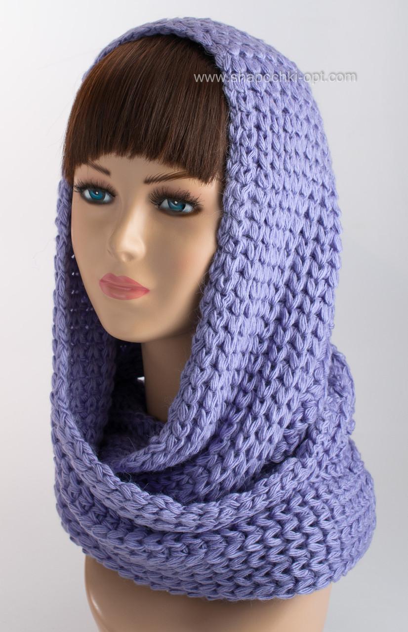 вязаный шарф хомут н 122 лаванда продажа цена в одессе шарфы от
