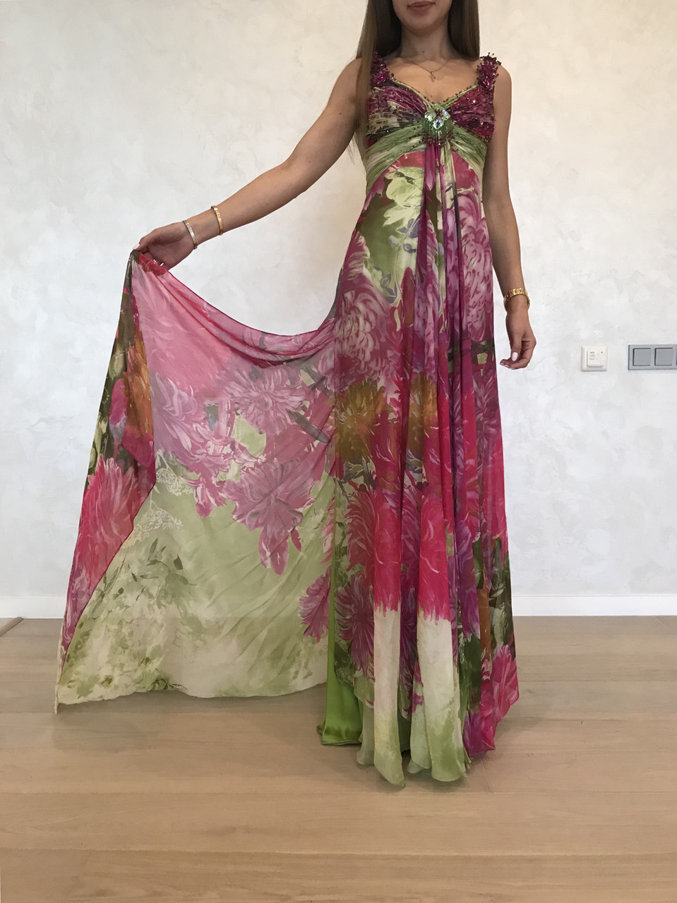 Платье Stella Shakhovskaya шелковое цветное длинное