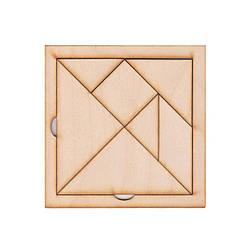 """Игра-головоломка """"Танграм"""" 12 х 12 см. нецветная"""