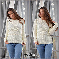 Женский свитер Мила, молоко, фото 1