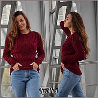 Женский свитер Мила, бордо, фото 1