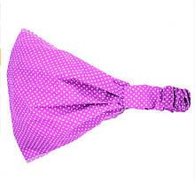 Дитяча фіолетова бандана в горошок - розмір до 3-х років, 25*19см