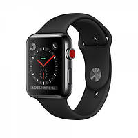 Apple Watch Series 3 GPS + Cellular 42mm Space Black Stainless Steel with  Black Sport Band e0dca0d5a2eb7