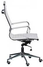 Кресло Solano artlеath белое реплика кресла Eames Style HB Ribbed Office Chair EA 119 Бесплатная доставка, фото 3