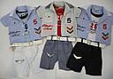 Летний комплект для мальчика Ok: майка, сорочка, шорты  (ТМ Petito Club, Турция), фото 7