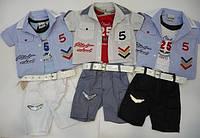 Комплект для мальчика Ok: майка, сорочка, шорты  Артикул 775, фото 1