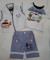 Комплект для мальчика, футболка, жилет, шорты  Артикул 779, фото 1