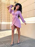 Стильное платье с разрезами на рукавах (К24123), фото 1