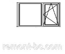 Вікно металопластикове ALMplast 2.57*1.95
