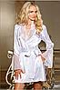 Белоснежный атласный халат
