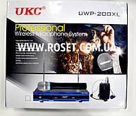 Беспроводная микрофонная система UKC DM UWP-200 XL 2CH  2 микрофона