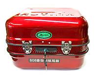 Кофр на скутер металлический, красный, фото 1
