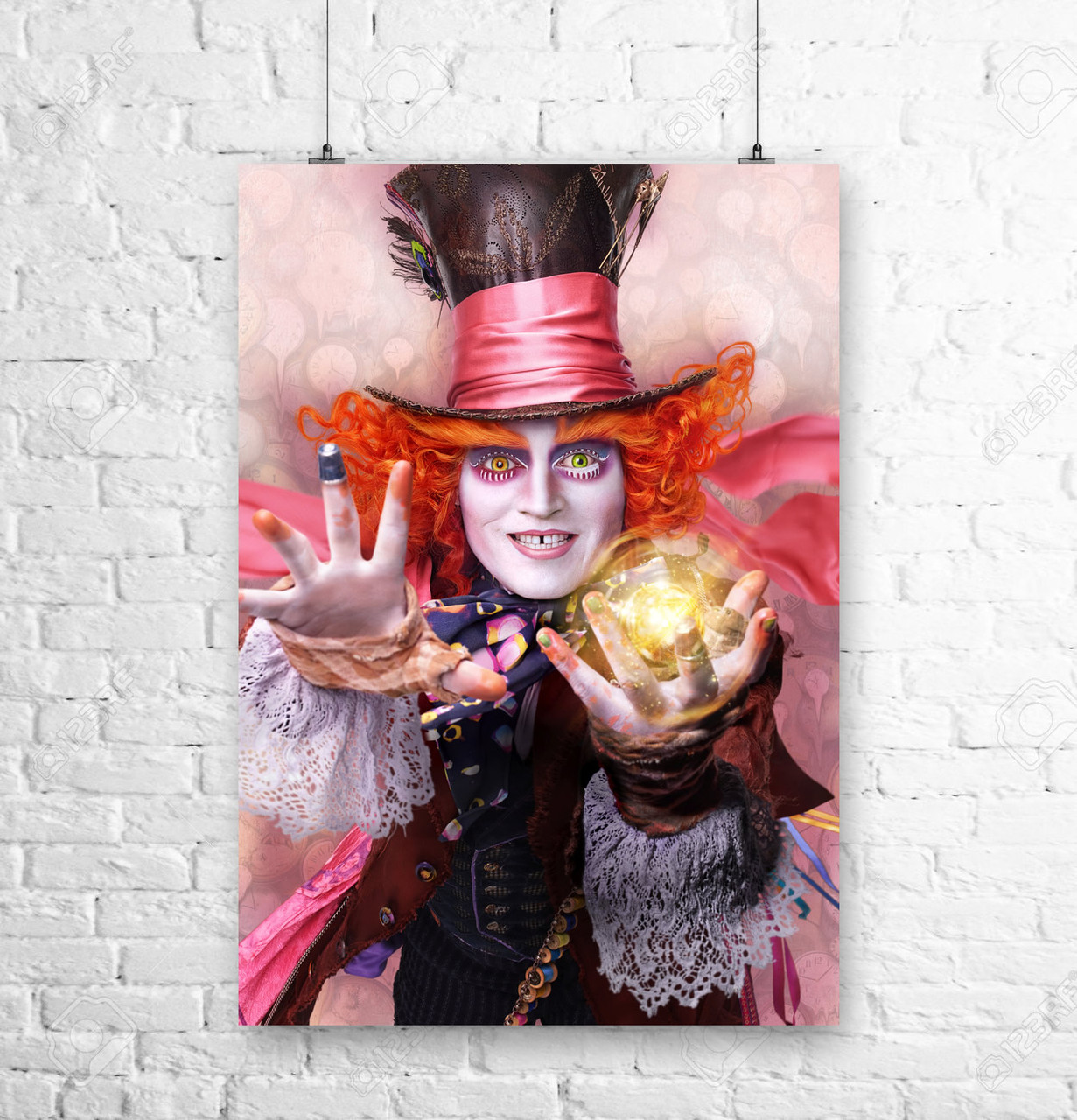 Постер Шляпник. Алиса в Стране Чудес, Alice in Wonderland. Размер 60x42см (A2). Глянцевая бумага