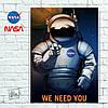 Постер We need you! Агитплакат НАСА (60x85см)