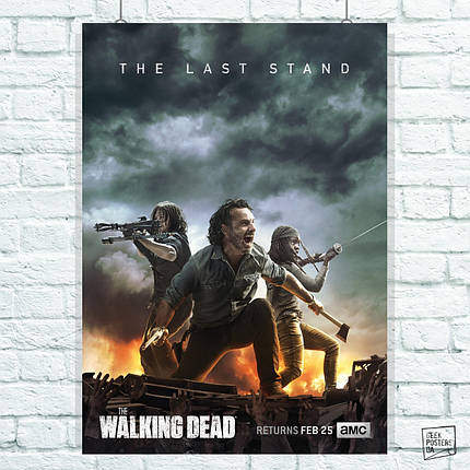 Постер The Walking Dead, Ходячие Мертвецы, сериал. Размер 60x42см (A2). Глянцевая бумага, фото 2