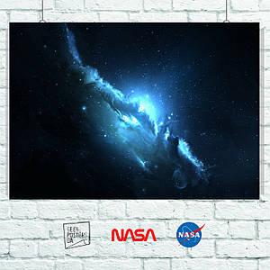 Постер Atlantis Nebula, туманность. Размер 60x42см (A2). Глянцевая бумага
