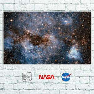 Постер Large Magellanic Cloud, Большое Магелланово Облако, галактика, ESA/Hubble. Размер 60x36см (A2). Глянцевая бумага