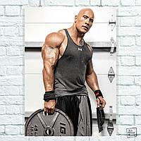 """Постер Дуэйн """"Скала"""" Джонсон, Dwayne """"The Rock"""" Johnson. Размер 60x42см (A2). Глянцевая бумага"""