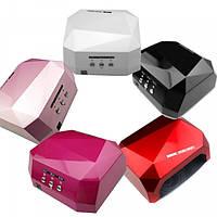 Гибридная УФ-лампа  LED+CCFL Diamond 36W (магнит)для гель-лаков с таймером 10,30,60 сек Лампа гибрид ОРИГИНАЛ, фото 1