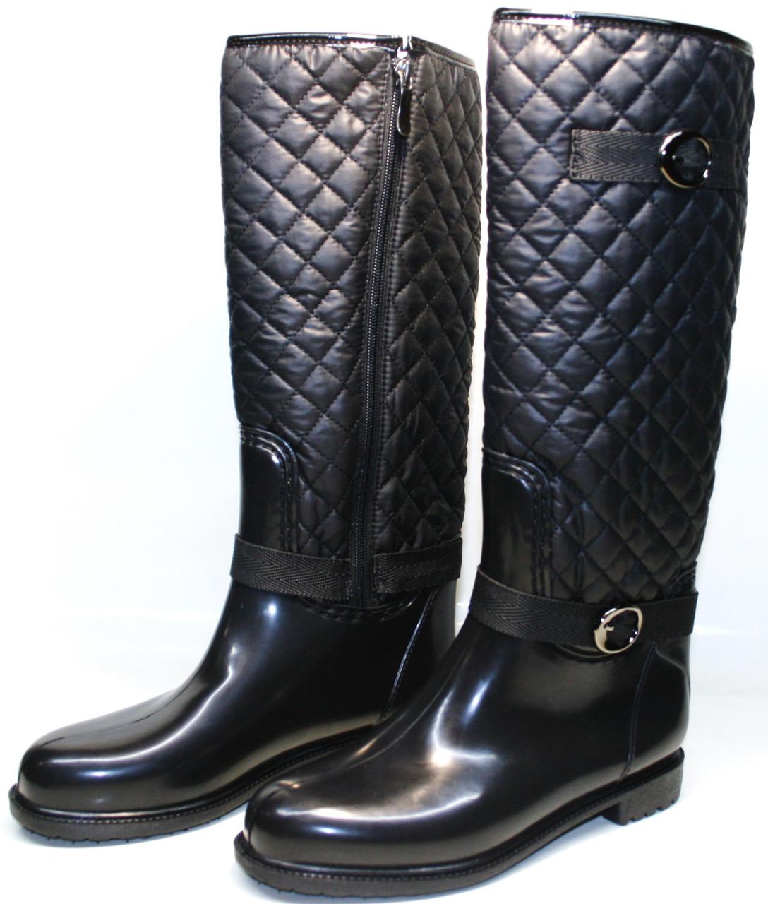 Утепленные женские резиновые сапоги Valex 4696(45)-627