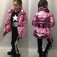 Детская куртка плащ Кокетка с бантом на рост 116-134см
