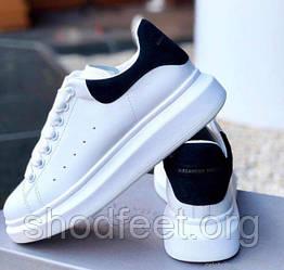 Женские кроссовки Alexander McQueen White Blue