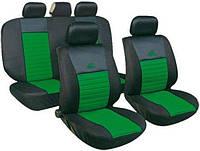 Авточехлы универсальные автомобильные  для салона полный Milex Tango зелёный