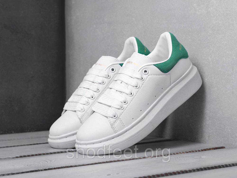 Женские кроссовки Alexander McQueen White Green