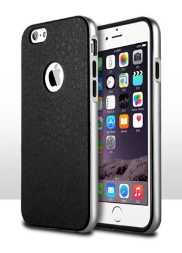 Роскошный чехол бампер для iPhone 6 Plus/6S Plus серебристый