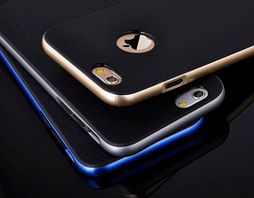 Роскошный чехол бампер для iPhone 6 Plus/6S Plus серебристый, фото 3