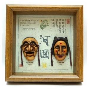 Корейская картина «Две маски Тал»