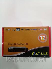 Цифровой тюнер Simax T2 RedPlus HD (DVB-T2, Youtube, IPTV)