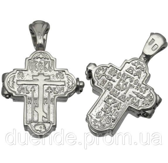 Серебряный крестик-мощевик с Молитвой Честно́му Кресту / 1031кр