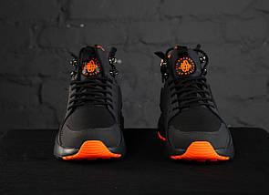 Мужские кроссовки Nike Huarache Acronym Concept Black/Orange, фото 3