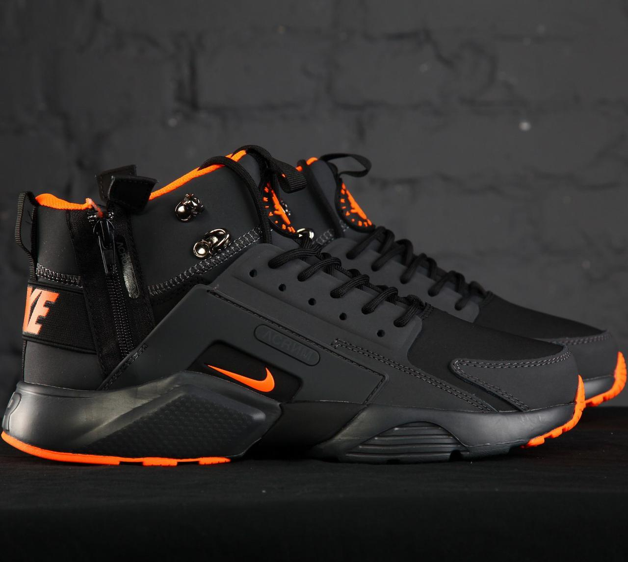 Мужские кроссовки Nike Huarache Acronym Concept Black/Orange