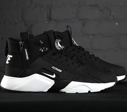 Мужские утепленные кроссовки в стиле Nike Huarache Acronym Concept Black/White, фото 2