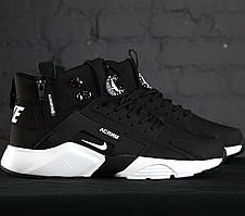 Мужские утепленные кроссовки в стиле Nike Huarache Acronym Concept Black/White