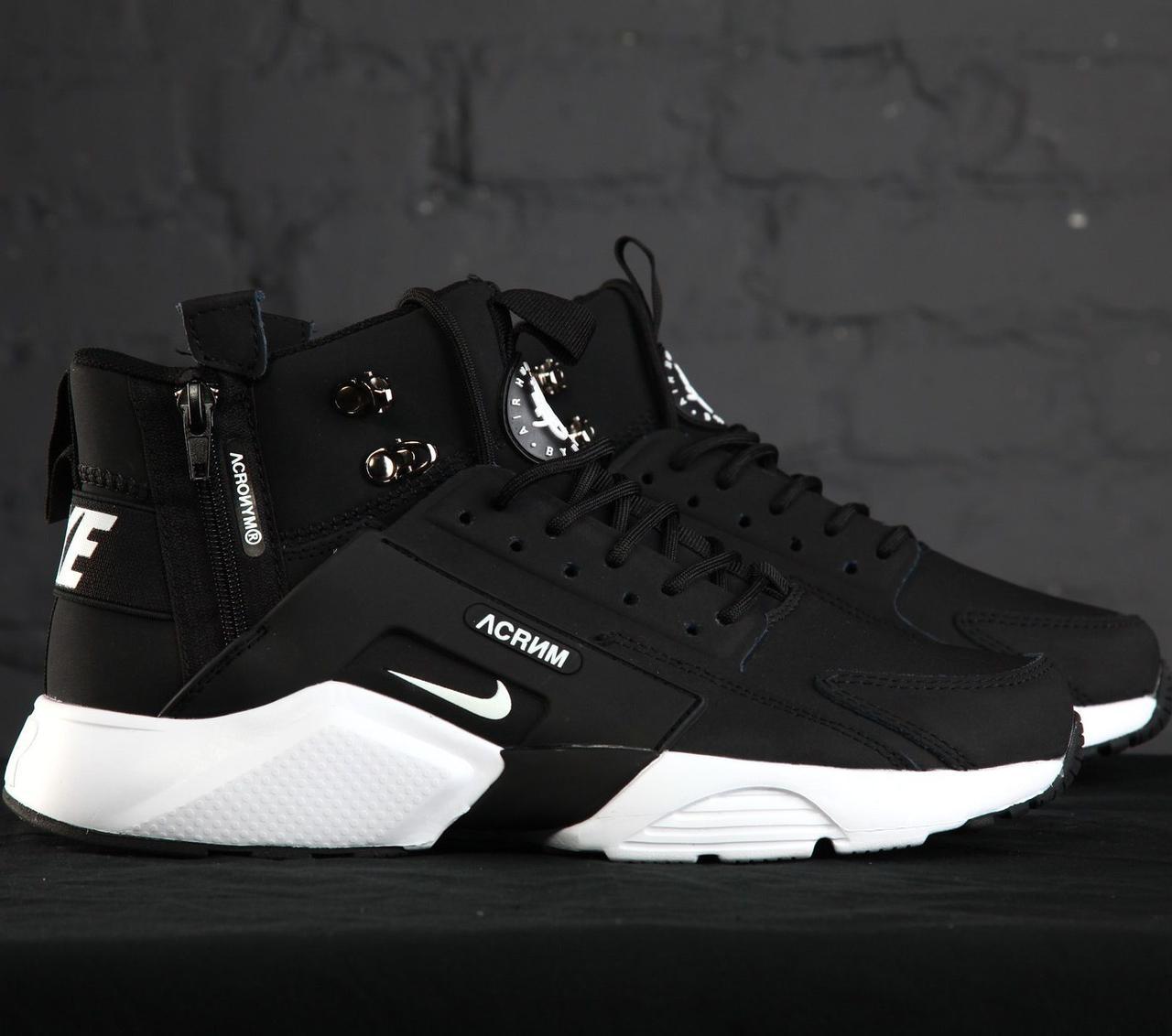 50ebdc12c88c Мужские Кроссовки Nike Huarache Acronym Concept Black White — в ...