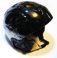 Шлем лыжный. Черно - золотой. Суперцена!!!